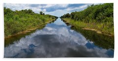 Everglades Canal Bath Towel by Christopher L Thomley