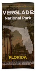 Everglades National Park In Florida Travel Poster Series Of National Parks Number 15 Bath Towel