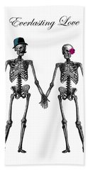 Everlasting Love Couple Skeleton Couple Hand Towel