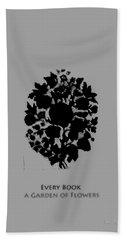 Hand Towel featuring the digital art Every Book A Garden by Asok Mukhopadhyay