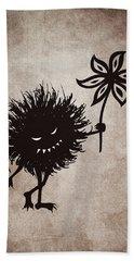 Evil Bug Gives Flower Hand Towel