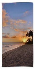 Ewa Beach Sunset 2 - Oahu Hawaii Bath Towel by Brian Harig