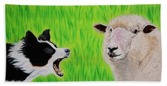 Ewe Talk'in To Me? Hand Towel