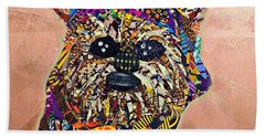 Bath Towel featuring the tapestry - textile Ewok Star Wars Afrofuturist Collection by Apanaki Temitayo M
