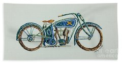 Excelsior Motorcycle Hand Towel