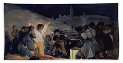 Execution Of The Defenders Of Madrid Hand Towel