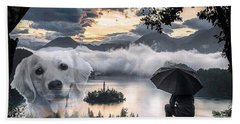 Bath Towel featuring the digital art Expect Miracles by Kathy Tarochione