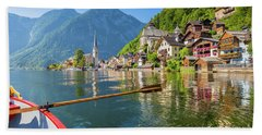 Exploring Hallstatt Bath Towel