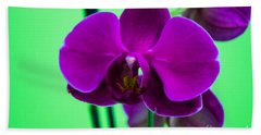 Exposed Orchid Bath Towel