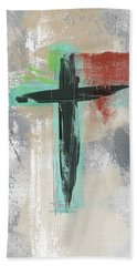 Expressionist Cross 3- Art By Linda Woods Bath Towel