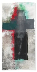 Expressionist Cross 4- Art By Linda Woods Hand Towel