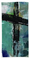 Expressionist Cross 8- Art By Linda Woods Hand Towel
