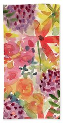 Expressionist Fall Garden- Art By Linda Woods Hand Towel