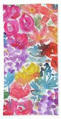 Expressionist Watercolor Garden- Art By Linda Woods Hand Towel