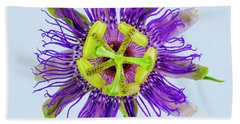 Expressive Yellow Green And Violet Passion Flower 50674b Bath Towel
