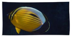 Exquisite Butterflyfish 2015 Bath Towel
