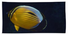 Exquisite Butterflyfish 2015 Hand Towel
