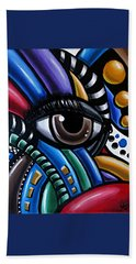 Eye Am - Abstract Art Painting - Intuitive Art - Ai P. Nilson Bath Towel