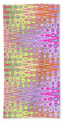 Hand Towel featuring the digital art 	Eye Candy Tapestry				 by Ann Johndro-Collins