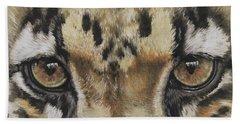 Clouded Leopard Gaze Bath Towel