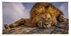 Eye Contact On The Serengeti Bath Towel