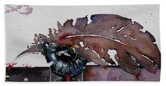 Eye Feather Hand Towel by Geni Gorani