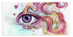 Eye Fish Surreal Betta Bath Towel