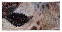 Eye Of A Giraffe Hand Towel
