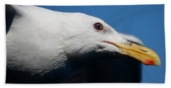 Hand Towel featuring the photograph Eye Of A Seagull by Sumoflam Photography