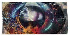 Bath Towel featuring the digital art Eye Of The Storm by Linda Sannuti