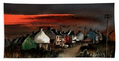 Cork Beara Eyeries Sunset Beara Bath Towel