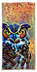 Eyes Of Wisdom Hand Towel by Geri Glavis
