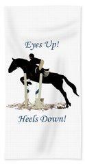 Eyes Up, Heels Down Horse Hand Towel by Patricia Barmatz
