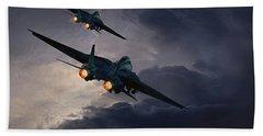 F-14 Flying Iron Hand Towel
