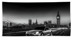 F-type In London Hand Towel by Mark Rogan