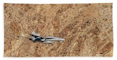 F18 Level Flight In Star Wars Canyon Hand Towel