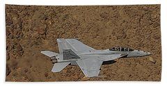 F18 Lightning In Star Wars Canyon Hand Towel