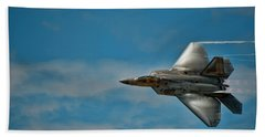 F22 Raptor Steals The Show Hand Towel by Dan McManus