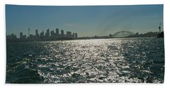 Fabulous Sydney Harbour Hand Towel by Leanne Seymour