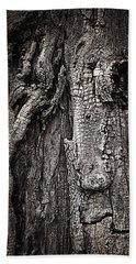 Face In A Tree Bath Towel by JoAnn Lense