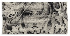 Face In The Storm Hand Towel