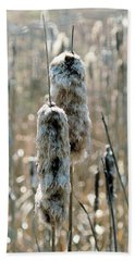 Faded Cattails Bath Towel