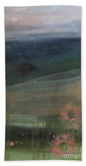 Hand Towel featuring the painting Faded Days Gone By by Robin Maria Pedrero