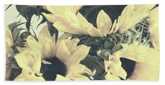 Faded Sunflowers Bath Towel