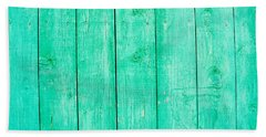 Hand Towel featuring the photograph Fading Aqua Paint On Wood by John Williams