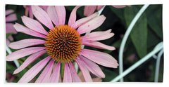 Fading To Pink Cone Plant Bath Towel