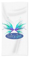 Fairy Girl Feathery Wings Hand Towel