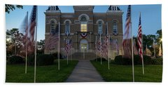 Fairbury Nebraska Avenue Of Flags - September 11 2016 Hand Towel