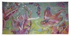 Fairy Ballet Hand Towel by Judith Desrosiers