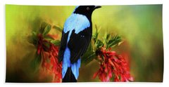 Fairy Bluebird Hand Towel